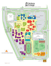 Cupertino Map De Anza College Evacuation Chairs Emergency Information