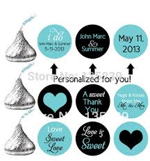 labels for wedding favors aliexpress buy 300pcs stickers for hershey s kisses wedding