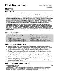 Foreman Resume Example by Structural Supervisor Resume Template Premium Resume Samples