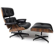 Lounge Ottoman Kardiel Eames Style Plywood Lounge Chair Ottoman Black Aniline