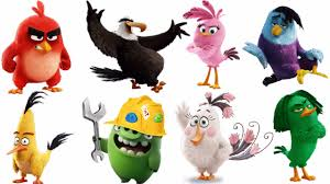 learn colors angry birds movie characters coloring book