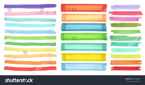 color highlight stripes banners drawn japan stock vector 693185089