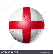 Englang Flag Soccer Football Ball With England Flag Stock Illustration I2463151