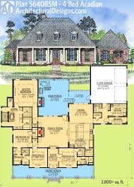 plan 56408sm 4 bed acadian with generous outdoor living space
