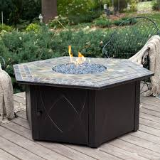 furniture awesome round pit table with hexagon padestal and