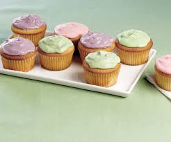 vanilla cupcakes with colored cream cheese frosting finecooking