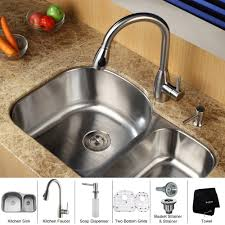 kitchen sink and faucet combo gallery drop in sinks picture trooque