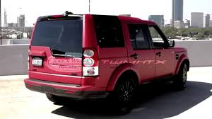 land rover lr4 black interior land rover lr4 with matte red vehicle wrap youtube