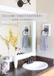 thrifty and chic diy projects and home decor decorative framed towel holder