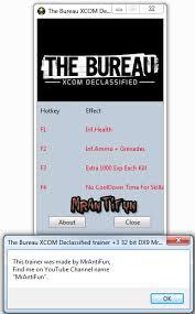 the bureau trainer mrantifun trainers the bureau xcom declassified trainer 4