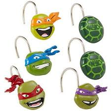 Shower Curtain Rings Walmart Nickelodeon Teenage Mutant Ninja Turtles Shower Curtain Hooks