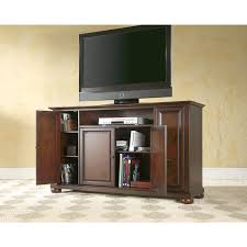 alexandria 60 inch tv stand in vintage mahogany finish crosley