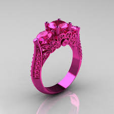 Pink Wedding Rings by Best 20 Pink Rings Ideas On Pinterest Pink Diamond Ring Pink
