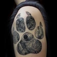 wolf paw print on arm
