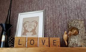 giant novelty solid oak scrabble letters wall art bramble signs