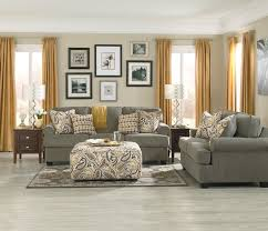 livingroom furniture ideas sofa and seat in smoke with paisley ottoman from