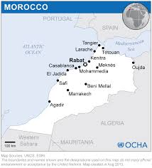 Map Of Morocco And Spain by Morocco Reliefweb