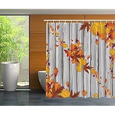 fall leaves autumn shower curtain home kitchen