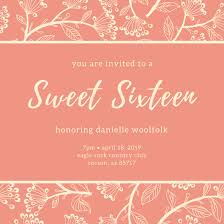 sweet 16 invitation templates canva
