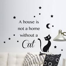 Wall Stickers Cats Home Decor Line Cat Silhouette Wall Decal By Wallpops Cat