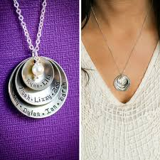 Necklace With Children S Names Grandmother Gift Grandma Necklace Mom Gift Childrens Name