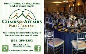table and chair rentals island chairs for affairs party rentals inc melbourne florida