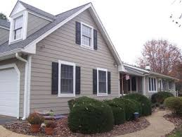 we chose white trim black shutters and taupe hardiplank as in