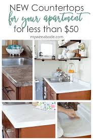 can you replace cabinets without replacing countertops diy cheap countertops with contact paper my wee abode