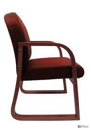Fabric Guest Chairs B9570 By Boss Mahogany Framed Office Guest Chairs In Burgundy