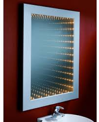 rectangle framed wall mirror with lights decofurnish