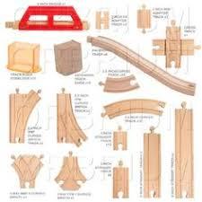 amazon com wooden train track deluxe set 56 assorted premium