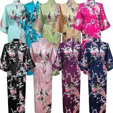 kimono robe de chambre peignoir satin de soie robe de mariage mariée demoiselle d