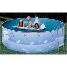 Plastic Swimming Pools At Walmart Heritage 15 U0027 Aqua Family Above Ground Swimming Pool Package