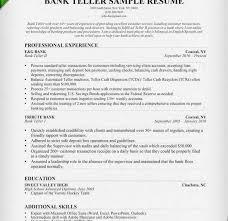 Bank Teller Job Description For Resume by Job Description Of A Teller For Resume Resume Cv Cover Letter