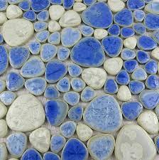 glazed porcelain wall tiles pebble mosaic kitchen backsplash tile
