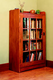 book case with glass doors mission solid oak bookcase with glass door free shipping today