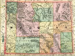 State Map Of Montana by Wyoming Homesteading Wyoming Historical Maps