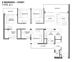 28 4 room floor plan 3d bungalow house plans 4 bedroom 4