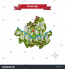 Seoul Map Seoul South Korea Map Flat Style Stock Vector 260164322 Shutterstock