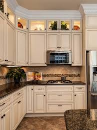 stylish ideas cream kitchen cabinets with black countertops best
