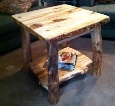 Log Side Table A Log Side Table
