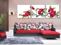 living room canvas coast rhododendron flower painting canvas pictures living room