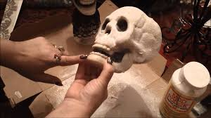 Diy Halloween Ornaments Halloween Skull Decoration Diy Tutorial Youtube