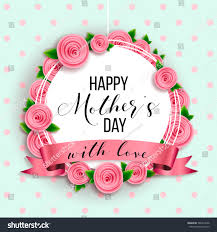 Mother S Day Designs Happy Mothers Day Layout Design Roses Stock Vector 580413658