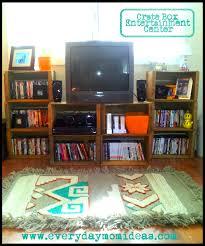 entertainment center ideas diy apple crate box entertainment center everyday mom ideas