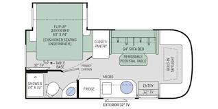 motorhome floor plans gemini ruv class c motorhomes floor plans thor motor coach