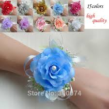 wrist corsage supplies free dhl artificial flower for wedding bridesmaid corsage flower