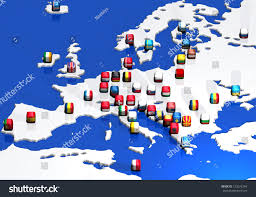 Europe Flags Europe Map Flags All European Flags Stock Illustration 153673394
