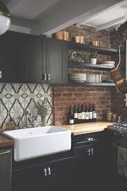 Kitchen With Brick Backsplash Best 10 Kitchen Brick Ideas On Pinterest Exposed Brick Kitchen