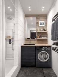 bedroom laundry room design with wood paneling also white marble